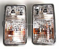 turn signal indicator blinker lights set Crystal-White for NISSAN Patrol 95-97