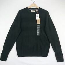 Weatherproof Vintage Mens Small Green Knit Striped Pullover Sweater Soft Touch