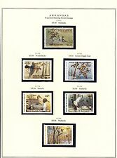 STATE OF ARKANSAS HUNTING PERMIT STAMPS 1981-2004 MOUNTING ON 4 PAGES BT6294