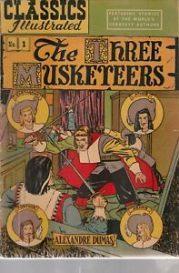 Classics Illustrated  comic, #1 The 3 Musketeers, VGF HRN 36