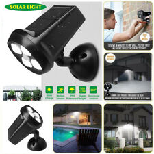 4LED Solar Powered Motion Sensor Outdoor Security Lighting Wall Mount Spotlight