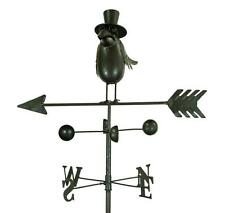 Black Dark Metal Crow Bird Wind Weathervane Weather Vane Garden Spinner Ornament