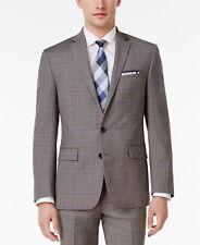 $500 RYAN SEACREST Mens Slim Fit Sport Coat Gray Plaid SUIT JACKET BLAZER 36 R