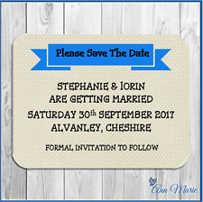10 X MAGNETIC PERSONALISED  SAVE THE DATE CARDS WITH ENVELOPES