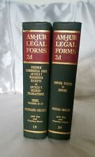 American Jurisprudence AM•JUR LEGAL FORMS 2d, 2nd Edition, Book Volumes 19 & 20