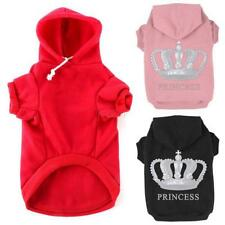 Hot Small Pet Dog Pullover Coat Sweater Hoodie Sports Sweatshirt Clothes Apparel