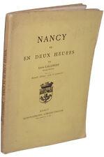 Nancy vu en deux heures, par Louis Lallement - Husson-Lemoine, vers 1883