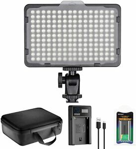 Neewer 176 LED Video Light Lighting Kit: Dimmable 176 LED Panel, With 2200mAh