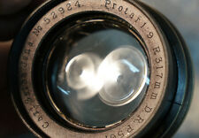 Very Rare Antique Vintage Early Brass Carl Zeiss Jena Protar F.9 317 mm D.R.P