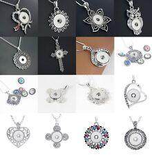 10stk Damen Click Button Knebel Metall Legierung Snap 18mm Anhänger Halsketten