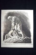 Tobia che sotterra un cadavere, marmo di Tito Sarrocchi Incisione del 1876