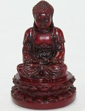 """Feng Shui 2"""" Red Meditating Buddha Figurine Peace Luck Statue Paperweight Gift"""