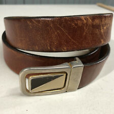 Marc Wolf Size 40 Brown Leather Distressed Belt