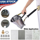 4 Jet Paint Gun Tool Cement Mortar Concrete Air Stucco Plastering Sprayer Hopper