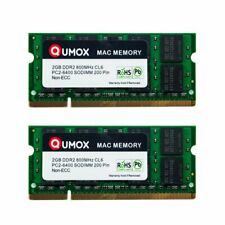 Qumox 4go (2x 2go) Ddr2 800 Pc2-6400 2 Go (200 Pin) SODIMM Mémoire Apple Mac