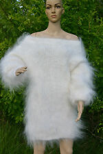 White Sweater 100% Goat Down Mohair Wool Thick jumper by D.Tolik  FETISH sexy