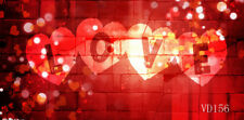 7x5FT Valentine's Day Love Heart Wall Polyester Photo Background Studio Backdrop