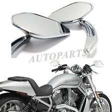 CHROME TAPERED TEARDROP REARVIEW SHORT STEM MIRROR FOR HARLEY MOTORCYCLE CHOPPER