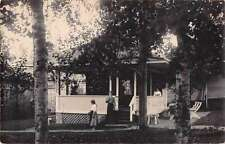 Residence Front Porch Home Historic House Real Photo Antique Postcard J65167