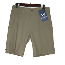 White Sierra Mens Traveller Fixed Waist Shorts X5721M