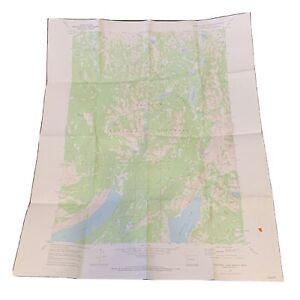 "Vintage 1968 Dept. Of Interior Map - Freemont Lake North Wyoming - 22"" x 27"" Top"