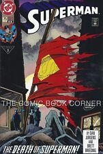 DC Comics 1993 SUPERMAN #75 Death of Superman 2nd Print Variant Near Mint NM