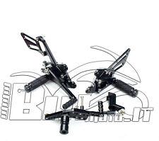 PEDANE ARRETRATE CNC X HONDA CBR 1000RR 2008 2009 2010 2011 ERGAL NERO REGOLABIL