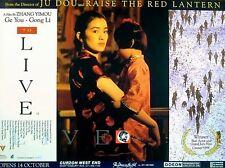 TO LIVE 1994 Gong Li Zhang Yimou CHINA UK QUAD POSTER
