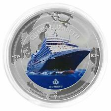 Pitcairn Islands 2013 $2 Cunard Lines - Queen Elizabeth 1 Oz Silver Proof Coin