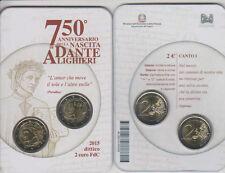 Italia  Italien 2 euro + 2 euro 750° ann. della nascita di Dante Alighieri 2015