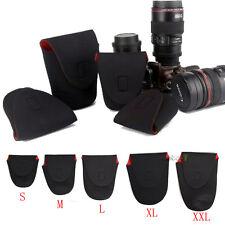 5pcs Neoprene DSLR Camera Lens Soft Protector Pouch Bag Case For Canon Nikon