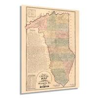 HISTORIX Vintage 1882 Map of Greenville County South Carolina