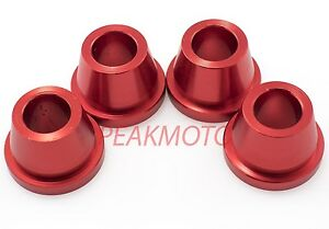 ZETA - ZE37-0311 - Rubber Killer Handlebar Aluminum Bushings, Red