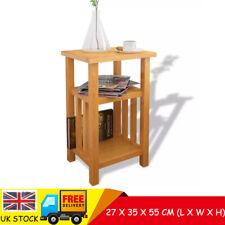 vidaXL  27x35x55 cm End Table with Magazine Shelf - Solid Oak