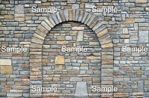 3 SHEETS EMBOSSED BUMPY BRICK wall paper 20x28cm EACH 1/6 scale, arch STONE 2