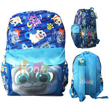 """Disney 16"""" Puppy Dog Pals Bingo & Rolly Back To School Backpack Book Bag"""