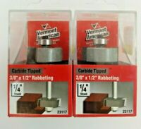 """CRAFTSMAN PROFESSIONAL 1//2/""""HIGH x 3//8/""""CUT DEPTH RABBETING ROUTER BIT~MADE ITALY"""