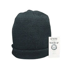 Wintuck Watch Cap - BLACK - GI Style Non Allergenic Fiber - Made In The USA