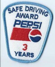 Pepsi Safe Driving Award 3 Years. 3-1/2X3X2 in