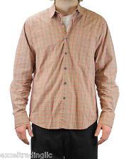 STEVEN ALAN Red Plaid Reverse Seam Outside Pocket Shirt H10-MST012CT NWT $168