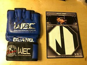 Miguel Torres Dominick Cruz +3 Signed Auto WEC Glove Event Used Ring Mat UFC MMA