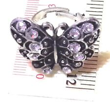 1 New Ring Rings Fashion Jewelry Butterfly Thai Rhodium Size 16-19 Women