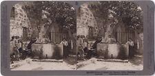 Simon le Corroyeur Joppe Jaffa Palestin Israël Photo Stereo Vintage Citrate