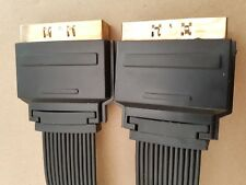Scart Câble plomb plat Connecteur Plasma et LCD TV Sky Ultra Slim haute qualité 3 m