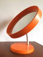 Miroir sur pied scandinave plastique orange made in Denmark design années 60 -70
