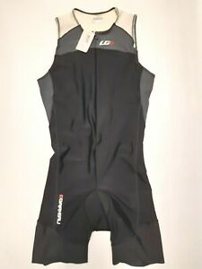 Garneau COMP Suit Triathlon - Black & Gray - Mens L - Lycra xtra life - Cycling
