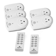 5x Wireless Remote Control Outlet Power Light Plug Switch Socket & 2 Remote