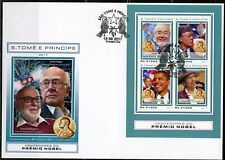 SAO TOME 2017 NOBEL PRIZE WINNERS OHSUMI, CARTER, OBAMA & DYLAN  SHEET FDC
