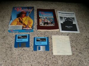 """Pirates! Commodore Amiga on 3.5"""" disks with box, manual and pictured insert"""
