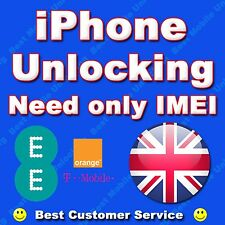 iPhone 4 6S 5S SE 6  ORANGE UK T MOBILE UK EE  Clean IMEI Unlocking FAST SERVICE